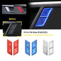 For Volkswagen Atlas 2018-2021 Aluminum Alloy Inner Door Lock Button Cover Trim