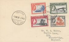 Gilbert & Ellice Islands 1st Day Cover QE2 stamps x 4 posted Stourbridge 1956