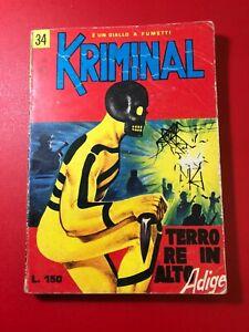 KRIMINAL N° 34 LIRE 150 TERRORE IN  ALTO ADIGE  1965