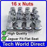 16x ALLOY WHEEL NUTS JAGUAR (M12X1.5) OE-FIT CHROME LUG BOLT STUD QUALITY [16L]