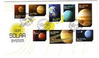 "2015 FDC Australia. Our Solar System. ""Orbiting Rocket"" PictFDI ""SUNSHINE"""