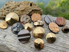 Gorgeous Vintage Assorted Mix Gold Metallic Textured Glass German Buttons Sewing