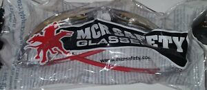 MCR SR14R Swagger Safety Glasses Clear/Red Frames Fire Mirror Lenses Qty 12