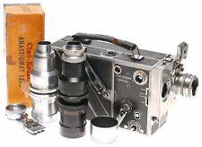 Cine Kodak Special II 16mm movie camera 3 lenses outfit