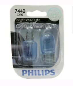 Philips Crystal Vision Ultra Light 7440 25W Two Bulbs Rear Turn Signal OE Lamp