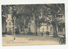 DIGNE FRANCE  VIEW OF  PARK OR COURTYARD GENDARMERIE  1900 POSTCARD
