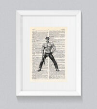 Tom Of Finland Style Leather Fetish Vintage Dictionary Book Print Wall Art