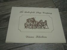 Vintage The Butterfield Stage Company Dinner Selections Restaurant Menu