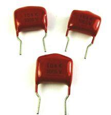12pcs Metallized Polyester Film Capacitor 01uf 100nf 100v 10 Orange Drop