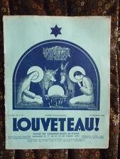 Magazine LOUVETEAU n° 9/10 NÖEL - 1935 - Imprimerie ouvriers sourds-muets PARIS