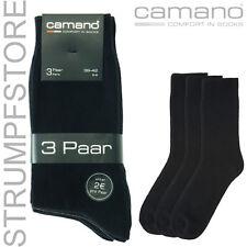 15 X par CAMANO Ca-algodón Calcetines De Vestir Hombre 43 44 45 46 43-46 negro