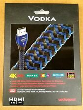 Genuine Audioquest Vodka HDMI Cable with Ethernet, 3D and 4K Ultra HD   1M