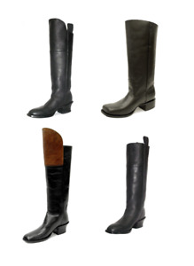 CUSTOM  Officer's Cavalry Tall Riding Boots, Civil War Reenactment 100% Leather
