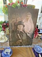 """16x24"""" WDW Haunted Mansion Constance the Bride Changing Lenticular Portrait RARE"""