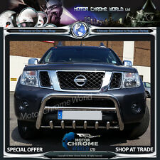 NISSAN NAVARA PATHFINDER D40 BULL BAR CHROME AXLE NUDGE 60mm 2005-2010 ON OFFER