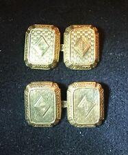 Vintage 14K GOLD CUFFLINKS Monogrammed -   3.55g