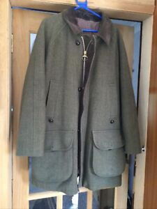 BARBOUR Derby Tweed Shooting Coat Size C44/112cOvercoat XL Field
