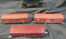 Lot of 4 Train Cars NYNHH 530049 PA 84666 Wabash 640 929 S Guage