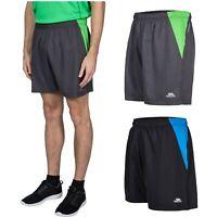 Trespass Shane Mens Black Grey Shorts For Hiking Running Cycling Gym Workout