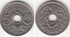 Monnaie Française 5 Centimes Lindauer Petit Module 1936
