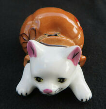 Limoges Gr France Hand Painted Trinket Box - Cat out of a Bag