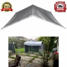 Pet Dog Kennel Cover Cage Roof Outdoor Shade From Sun Rain 10 X 10 Ft Heavy Duty