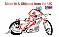 Speedway Rider multi coloured Vinyl Decal for your car van iPad Laptop cover,