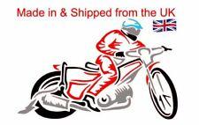 Speedway Rider in 4 colours Vinyl Decal/bumper sticker for your car window, Den
