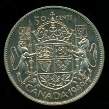 1949 King George VI, Silver Fifty Cent Piece, Lustre and Original Tone  F45
