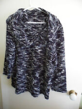 VINTAGE WOMAN WOMENS JUMPER SIZE 16 BLACK and WHITE COWL NECK