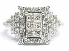18KT Unsichtbare Diamant Verlobung Weiß Gold Schmuck Ring 1.00CT