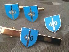 40 COMMANDO Gemelli Royal Marines, badge, Tie Clip MILITARE Set Regalo