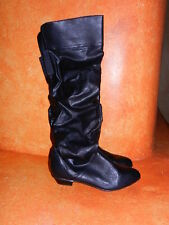 Ladies Womens Boots Curfew Burlingame High Heel Knee Boots Slouch Black 6M