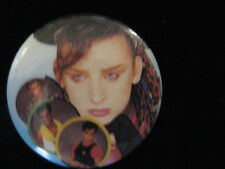 Culture Club-Boy George-Colour Numbers-Pin Badge Button-80's Vintage-Rare