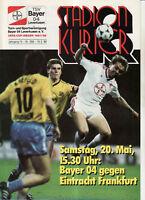 BL 88/89 Bayer 04 Leverkusen - Eintracht Frankfurt