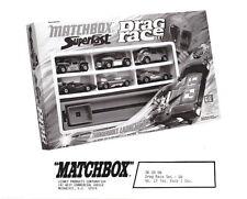 Matchbox Pressefoto Matchbox Superfast Drag Race Giftset G-6 1972