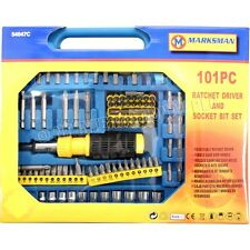 101PC RATCHET SCREW DRIVER SCREWDRIVER  ASSORTED BIT SET TORX STAR POZI FLAT HEX