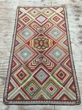 Handmade Antique Style England Used Rug Wool&cotton 164cm By 90cm