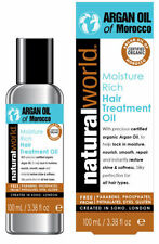 Natural World Moroccan Argan Oil Hair Treatment 100ml