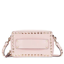 Valentino Rockstud Small Leather Cross Body - Water Rose