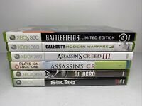 xbox 360 video game lot (6) Call Of Duty Battlefield Assassins Creed Dj Hero