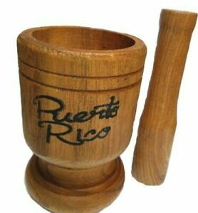 Puerto Rico Medium Size Wood Mortar & Pestle Pylon Pilon Madera - Mofongo Rican