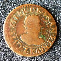Louis XIII (1610-1643) - Double tournois 1610 K Bordeaux - Rarissime !!!
