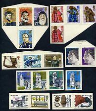 Lot of 77 stamps, UK, 1971, 72, 73 Scott's 648-673, 675-714 (10MNH)