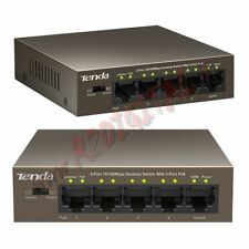 SWITCH TEF1105P TENDA 5 PORTE SERVER 10/100 4 PoE+ ETHERNET SDOPPIATORE LAN RACK