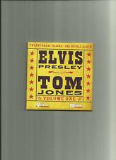 ELVIS PRESLEY & TOM JONES: VOLUME 1 + 2 - NEWSPAPER PROMO CDs