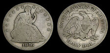 United States 1876 Silver Half Dollar Seated Liberty Very Good 8