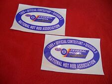 NHRA 1999 Federal Mogul Drag Racing Series division 5 official contestant decals