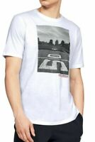 Under Armour Mens T-Shirt White Size Small S Football Graphic Tee Crew $25- #244