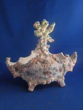 antik kelch schale porzellan dekor blumenmuster korb blumen- mehrfarbig